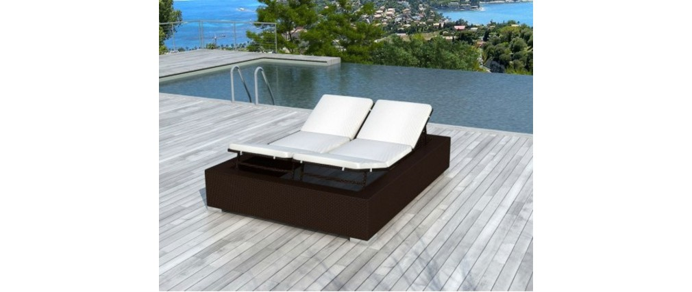bain de soleil 2 places chocolat r sine tress e caraibes. Black Bedroom Furniture Sets. Home Design Ideas