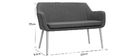 Banquette scandinave 2 places gris anthracite ALEYNA