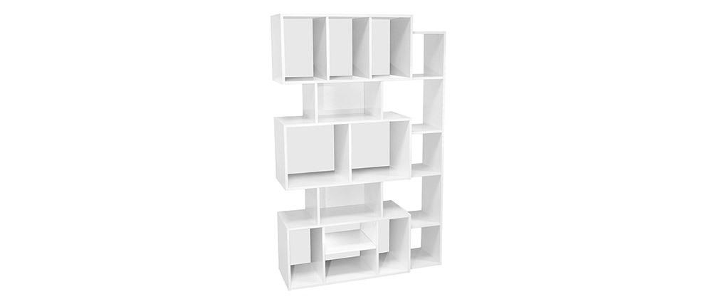 Bibliothèque design blanche avec fond noir ou blanc FOLCO