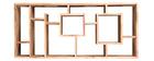 Bibliothèque design en acacia massif 80 cm CHAPMAN