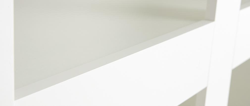 Bibliothèque design laquée blanc mat TINO