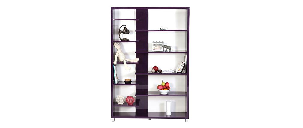 Biblioth Que Design Laqu E Violette Vixy Miliboo