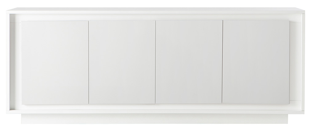 Buffet 4 portes design blanc LAND