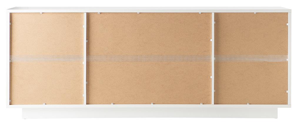 Buffet 4 portes design blanc mat LAND