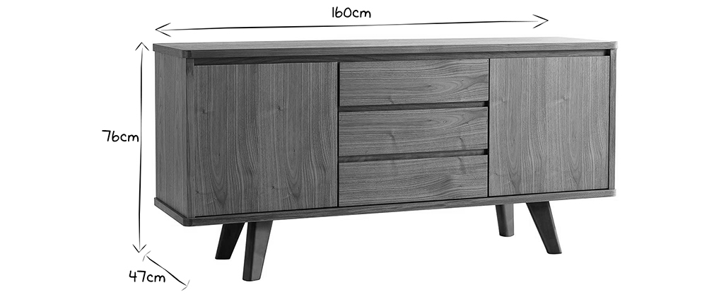 Buffet design noyer FIFTIES