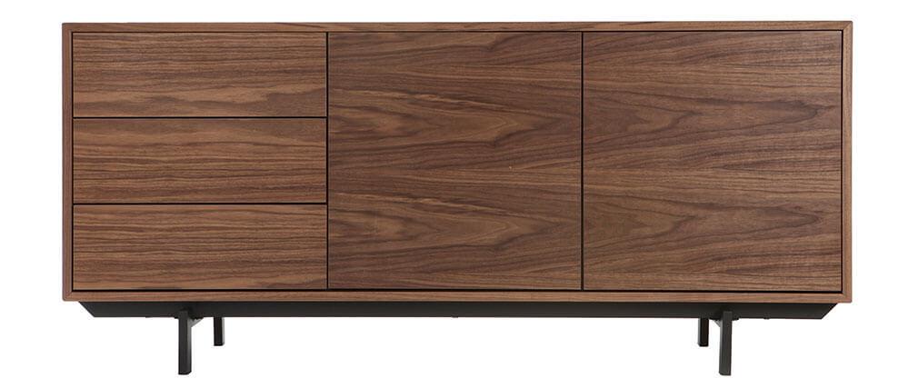 Buffet design vintage 160 cm noyer MANNY