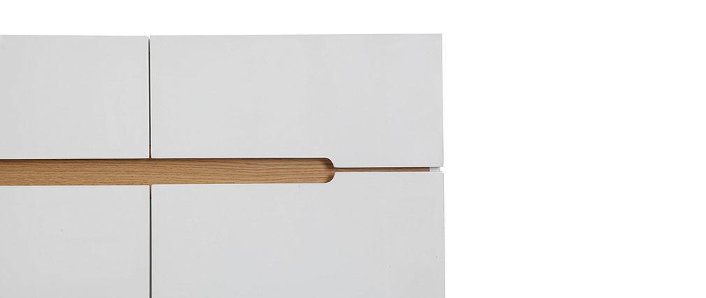 Buffet scandinave blanc et frêne 80cm MELKA