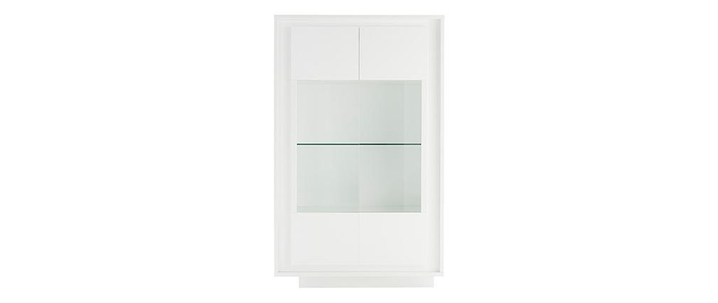 Buffet vitré design blanc LAND