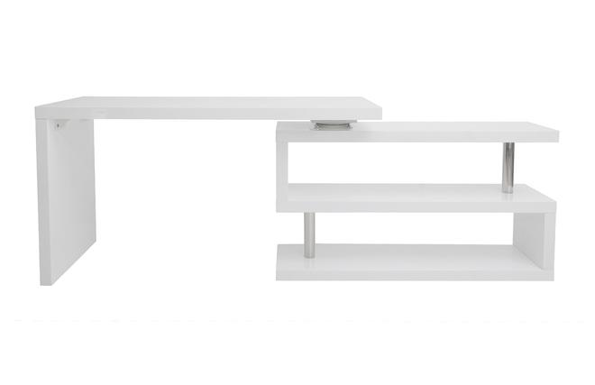 Bureau Blanc Modulable : Bureau design blanc laqué modulable max miliboo