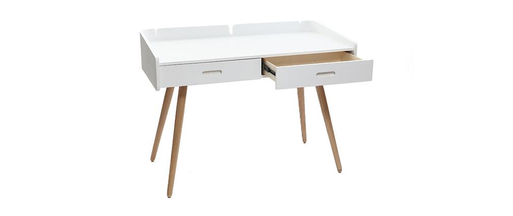 Bureau design frêne blanc NEVIL