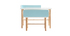 Bureau enfant avec banc bleu et bois clair BERTY