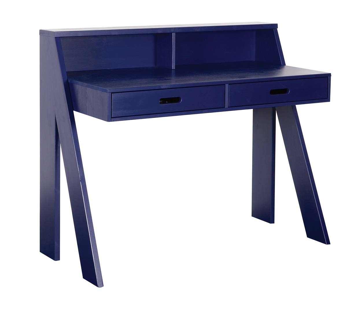 bureau enfant en pin bleu marine malo miliboo. Black Bedroom Furniture Sets. Home Design Ideas