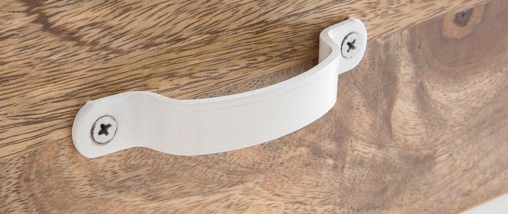Caisson de bureau design industriel manguier et métal blanc PUKKA
