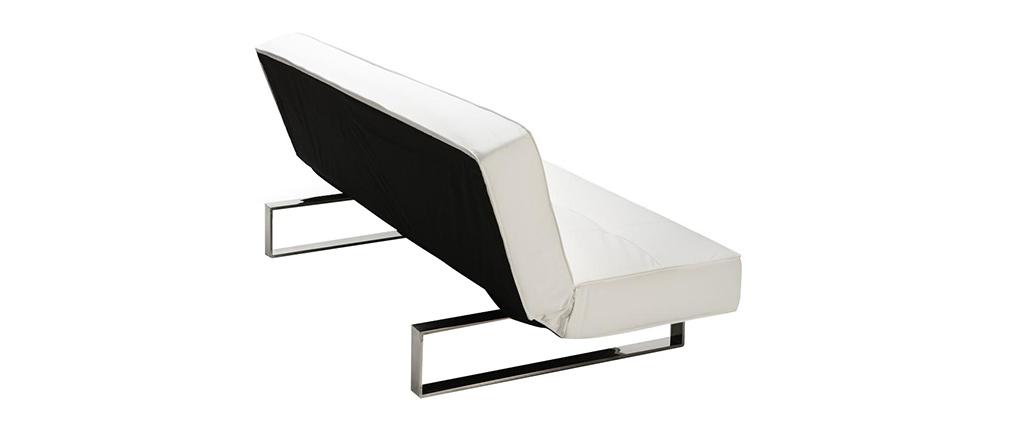 Canapé convertible design blanc CHARLESTON