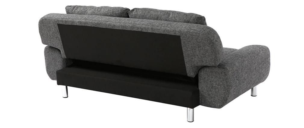 Canapé convertible design gris charbon TULSA
