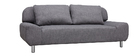 Canapé convertible design gris clair TULSA