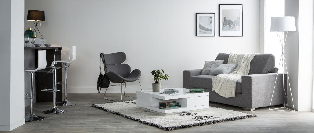 Canapé convertible design gris HAMILTON