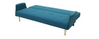 Canapé d'angle convertible réversible design bleu canard OSCAR