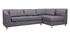 Canapé d'angle droit convertible gris MIAMI