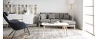 Canapé d'angle droit scandinave en tissu gris foncé déhoussable OSLO