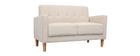 Canapé design 2 places beige MOON