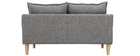 Canapé scandinave 2 places gris KATE