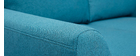 Canapé scandinave 2 places tissu bleu canard ALICE