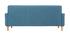 Canapé scandinave 3 places en tissu bleu canard LUNA
