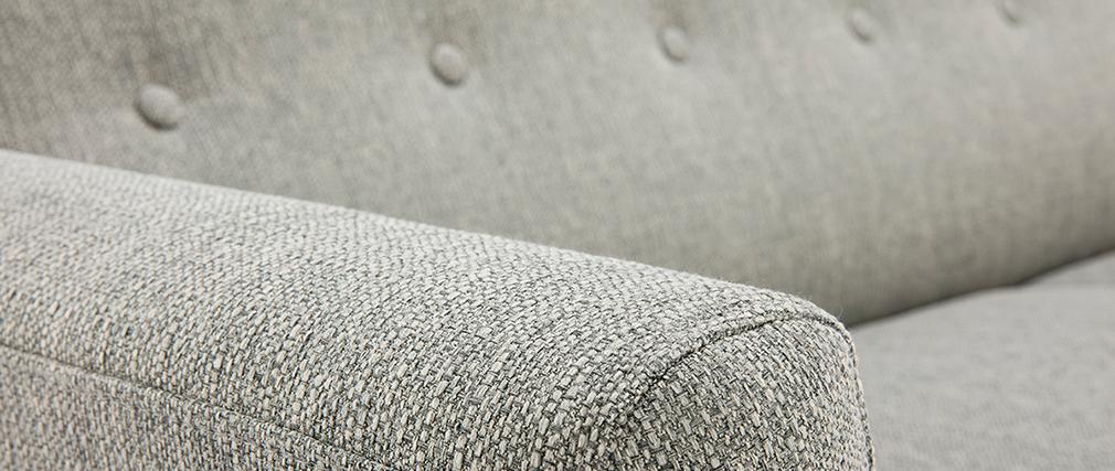 Canapé scandinave 3 places tissu gris clair KYNO