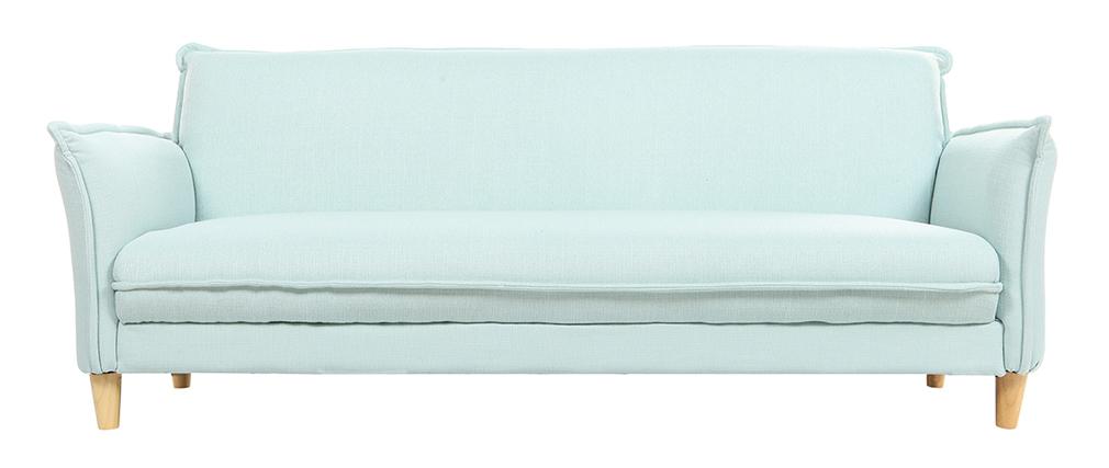 Canapé scandinave convertible tissu menthe à l