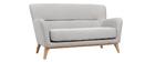 Canapé vintage 2 places gris clair MARKUS