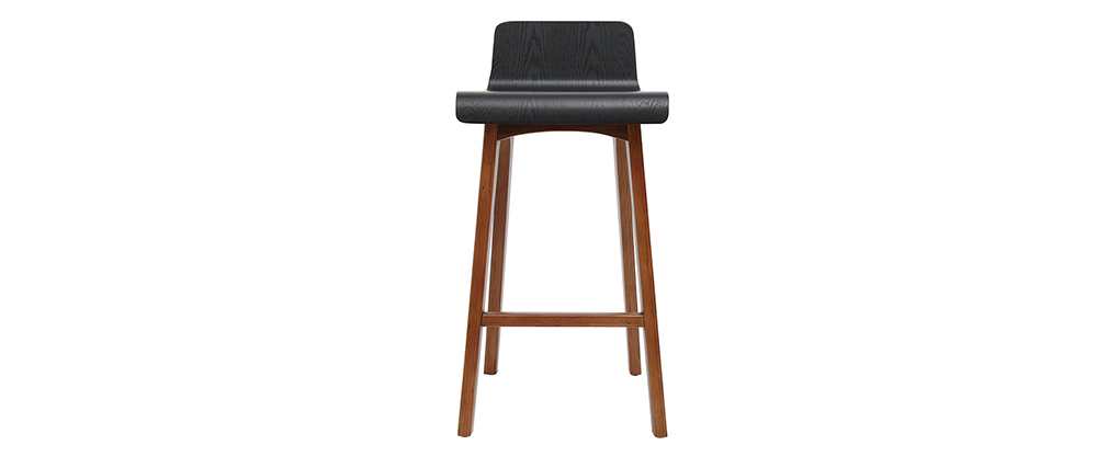 Chaise de bar noire 65 cm BALTIK