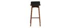 Chaise de bar noire 75 cm BALTIK