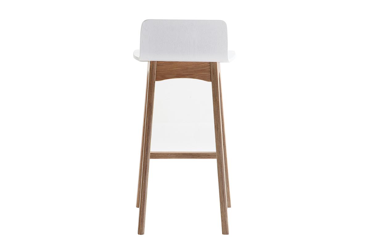 bois Miliboo et blanc Chaise 65 bar scandinave BALTIK de cm BCxedo