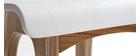 Chaise de bar scandinave bois et blanc H65 cm BALTIK