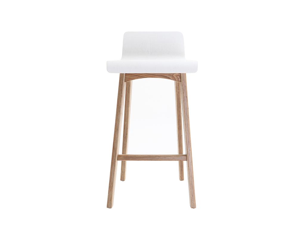 chaise de bar scandinave bois et blanc