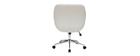 Chaise de bureau design blanche COLIN - Miliboo & Stéphane Plaza