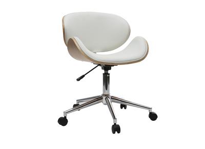 Fauteuil et chaise de bureau en cuir et ergonomique miliboo for Chaise de bureau en bois a roulette