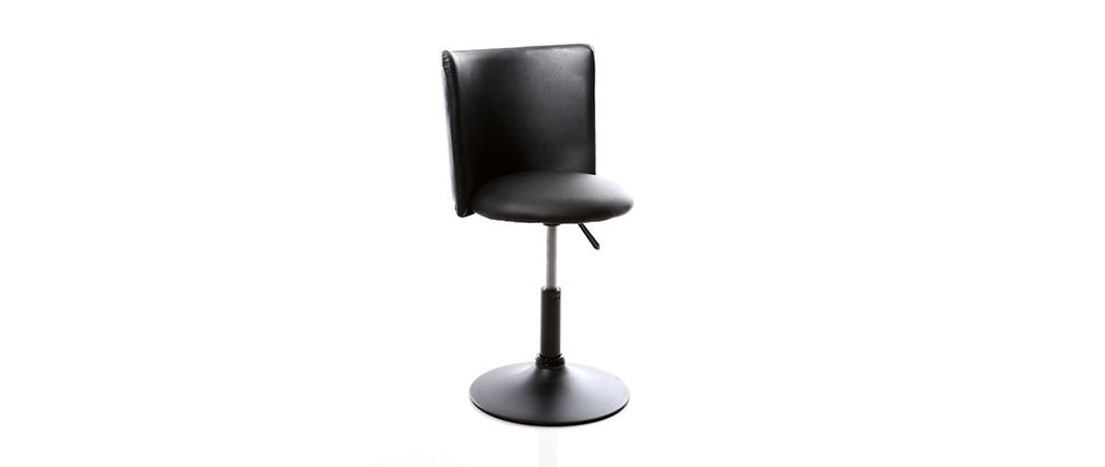 Chaise de bureau enfant noire NEW ROCK