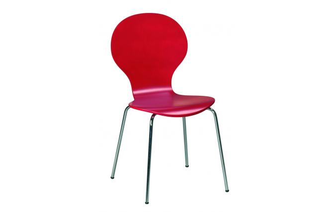 Chaise salle a manger rouge