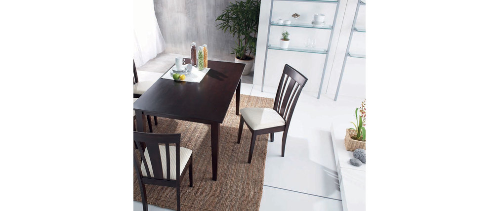 table bois wenge. Black Bedroom Furniture Sets. Home Design Ideas