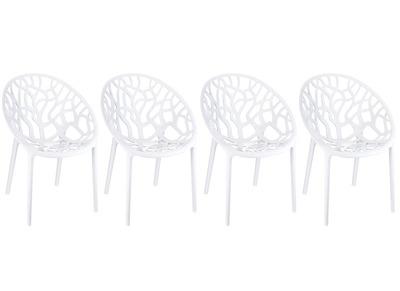 Chaise design blanc lot de 4 ARBOL