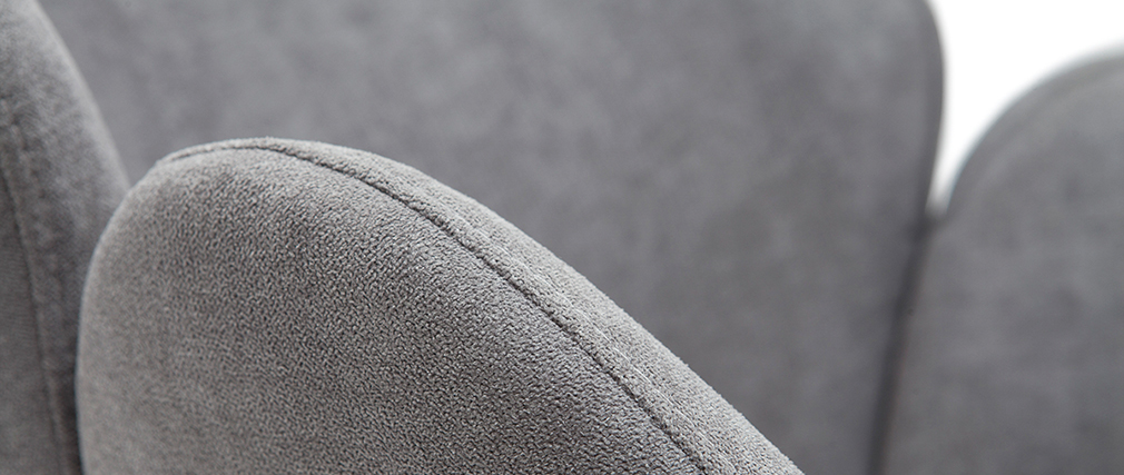 Chaise design en tissu effet velours gris RHAPSODY - Miliboo & Stéphane Plaza