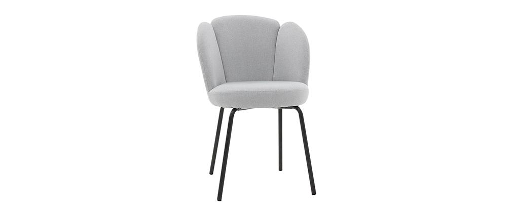 Chaise design en tissu gris clair FLOS