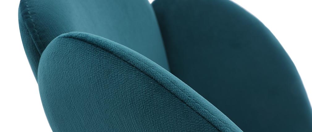 Chaise design en velours bleu pétrole FLOS