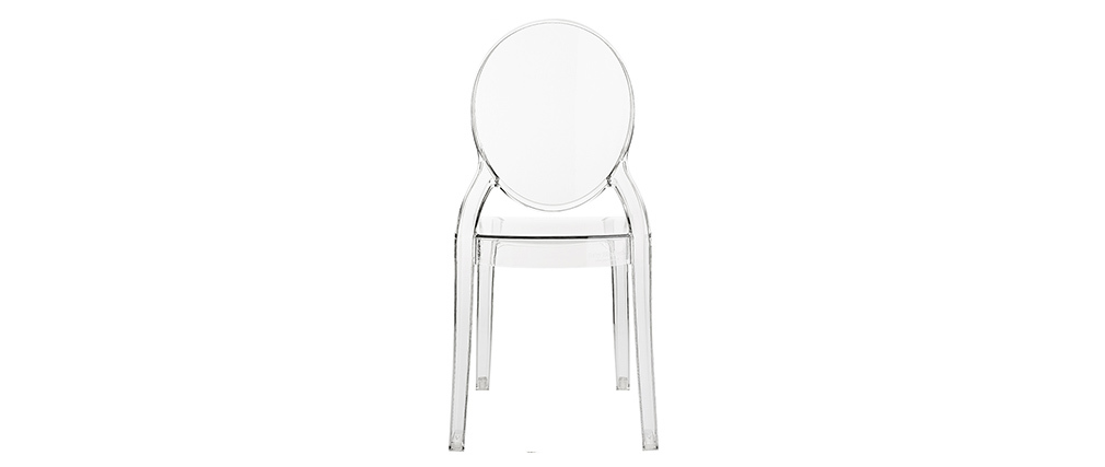 Chaise enfant transparente intérieur / extérieur MINI LOUISON