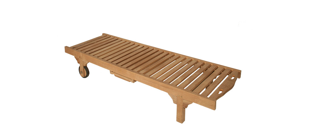 Chaise longue teck for Siege longue jardin