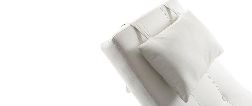 Chaise longue design blanc MONACO