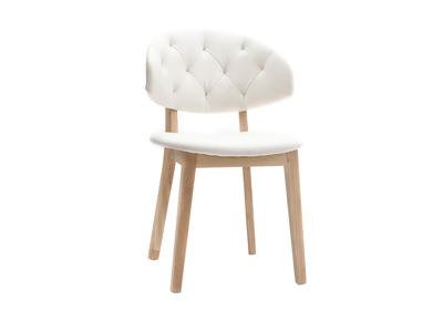 Chaise simili cuir blanc SOFFY