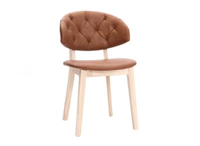 Chaise simili cuir marron SOFFY